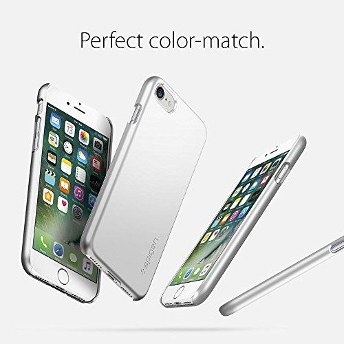 【Spigen】 iPhone7ケース, シン・フィット [ ハードケース スリム ] アイフォン 7 用 カバー (iPhone7, サテン・シルバー)