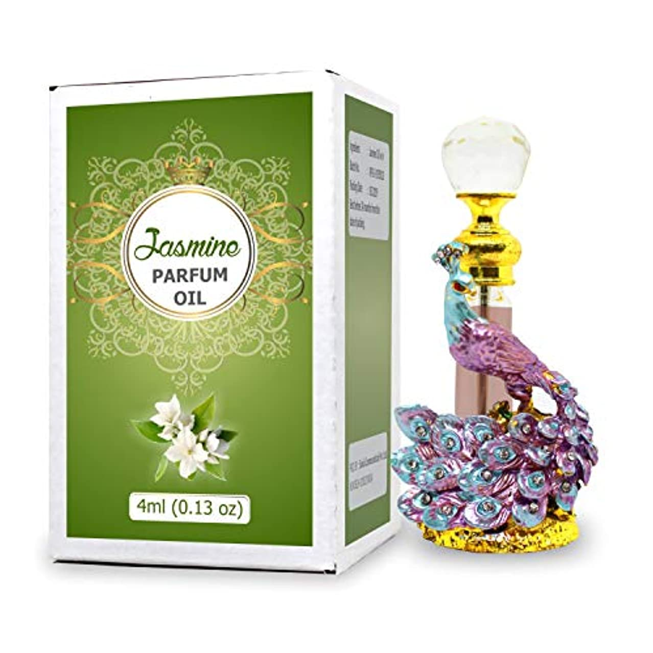 増強咽頭精査Jasmine Parfum Oil - Alcohol Free Perfume Oil - Long Lasting Jasmine Fragrance For Women - 4 ML