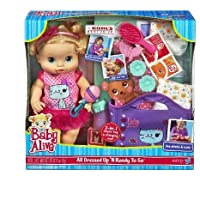 Baby Alive (ベビーアライブ) All Dressed Up N Ready To Go Doll Gift Set (ギフトセット) by Hasbro ドール 人形 フィギュア(並行輸入)