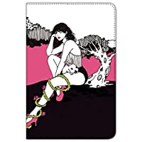 majocco iPad mini 1/2/3 ケース 手帳型 プリント手帳 野うさぎちゃんA (mj-006) カード収納 スタンド機能 WN-LC847793