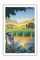 マデラ・ヴィンヤード・ワイン・トレイル - カリフォルニアワインカントリーアート によって作成された カーン・エリクソン - プレミアム290gsmジークレーアートプリント - 61cm x 91cm