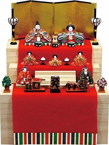 ミニ雛人形 ひな人形『彩寿雛三段収納飾り桐箱入(3364)』雛人形 【オブジ...