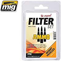 AmmoのMig Jimenezフィルタセットfor Desert Vehicles 3 Jars 30 ml # 7451