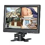 Koolertron 10.1インチ モニター1280  DSLR / PC / CCTVカメラ/ DVD /車バックアップカメラ/ホームオフィス監視のためのHDMI / VGA / AVポート 800 IPS液晶モニターセキュアシステム