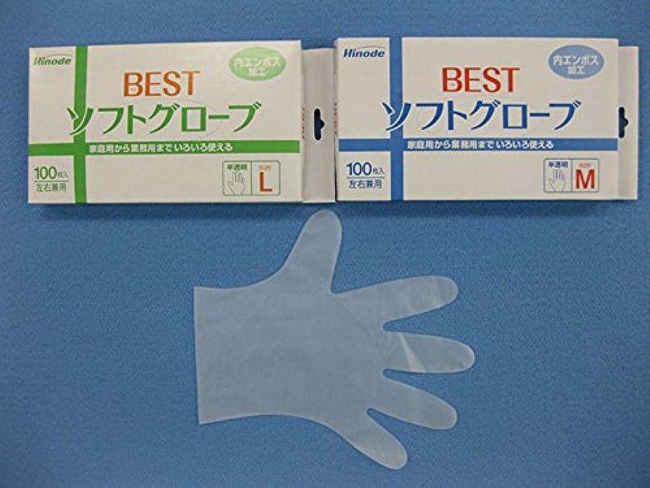薬局市場テレビを見るBESTソフトグローブ 4000枚入(100枚×40箱) (L)