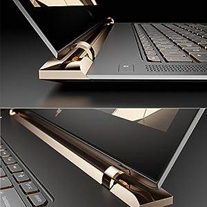 【MS Office搭載】 HP Spectre13 Windows10 Corei5-7200U 8GB 高速SSD 256GB 光学ドライブ非搭載 高速無線LAN IEEE802.11ac/a/b/g/n Bluetooth 92万画素webカメラ 10キー付バックライトキーボード B&O Playデュアルスピーカー Microsoft Office Personal Premium 13.3型フルHD液晶ノートパソコン 軽量約1.11kg