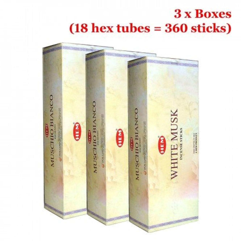セマフォビルダー報いる裾ホワイトムスク香、3ボックス – (360 Sticksバルクper order)