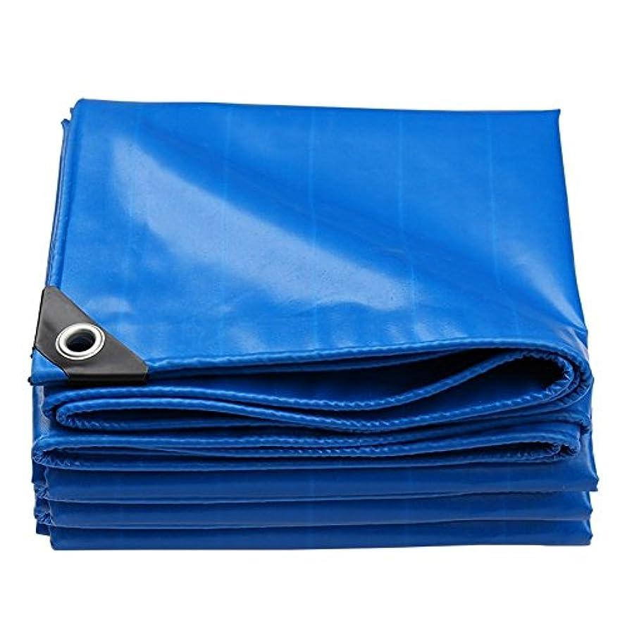 つまずくエゴイズムハロウィンオーニングターポリン両面防水耐摩耗性サンプロテクション防塵布タールプ、厚さ0.45mm、550 G/M²、青 (Size : 4x6m)