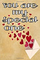 you are my special one pretty beautiful and romantique gift for lovers on valentine's day to celebrate their love: Journal with blank Lined pages for journaling, note taking and jotting down ideas and thoughts