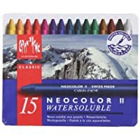 Caran d'Ache Classic Neocolor II Water-Soluble Pastels, 15 Colors [並行輸入品]