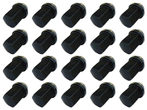 17H31mm袋ナットM12×P1.25黒【クロモリスチール製】【レーシングナット】