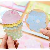 SEADEAR Cute Ice Cream Post Itブックマークステッカーマーカーメモフラグインデックスタブ付箋のセット5