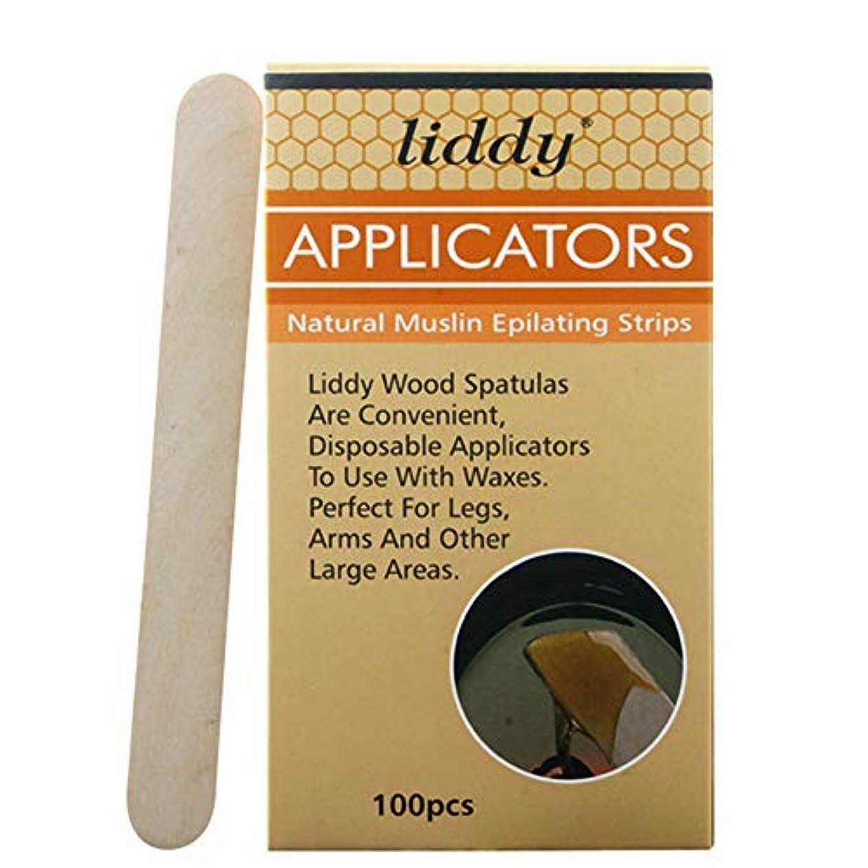 風刺インデックス酸Rabugoo 100ピース木製ワックスヘラ舌マスクスティック使い捨て竹スティックタトゥーワックス医療スティック
