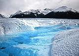 絵画風 壁紙ポスター (はがせるシール式) パタゴニアの氷河 アルゼンチン 氷 流氷 氷山 冷気 涼しい 暑気払い キャラクロ SICE-006A2 (A2版 594mm×420mm) 建築用壁紙+耐候性塗料