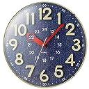 MAG(マグ) 掛け時計 電波 アナログ 直径30.5cm ネイビー W-750BU