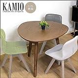 三角形 ダイニングテーブル KAMIO カミオ 三角 北欧 アンティーク 木製 天然木 3人 3人用 食卓テーブル 食卓用 カフェ カフェ風 テーブル レトロ おにぎり型 トライアングルテーブル おしゃれ モダン