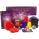 マジックトリック道具一式 7つの手品 児童マジック道具セット おもしろくて不思議な手品が大集合 入門マジックアイテムセット チャイルド簡単なマジック道具 マジック初心者 近景マジック 解説DVD付き