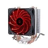 Novonest Intel CPU専用サイドフロー型CPUクーラー LEDファンを搭載した 静音 (赤)