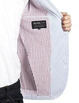 Seersucker 2-button Jacket 11-16-0805-803: Saxe