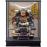 五月人形 ケース入り 子供大将 伊達 銀 ガラスケース 幅38cm [fn-23] 端午の節句