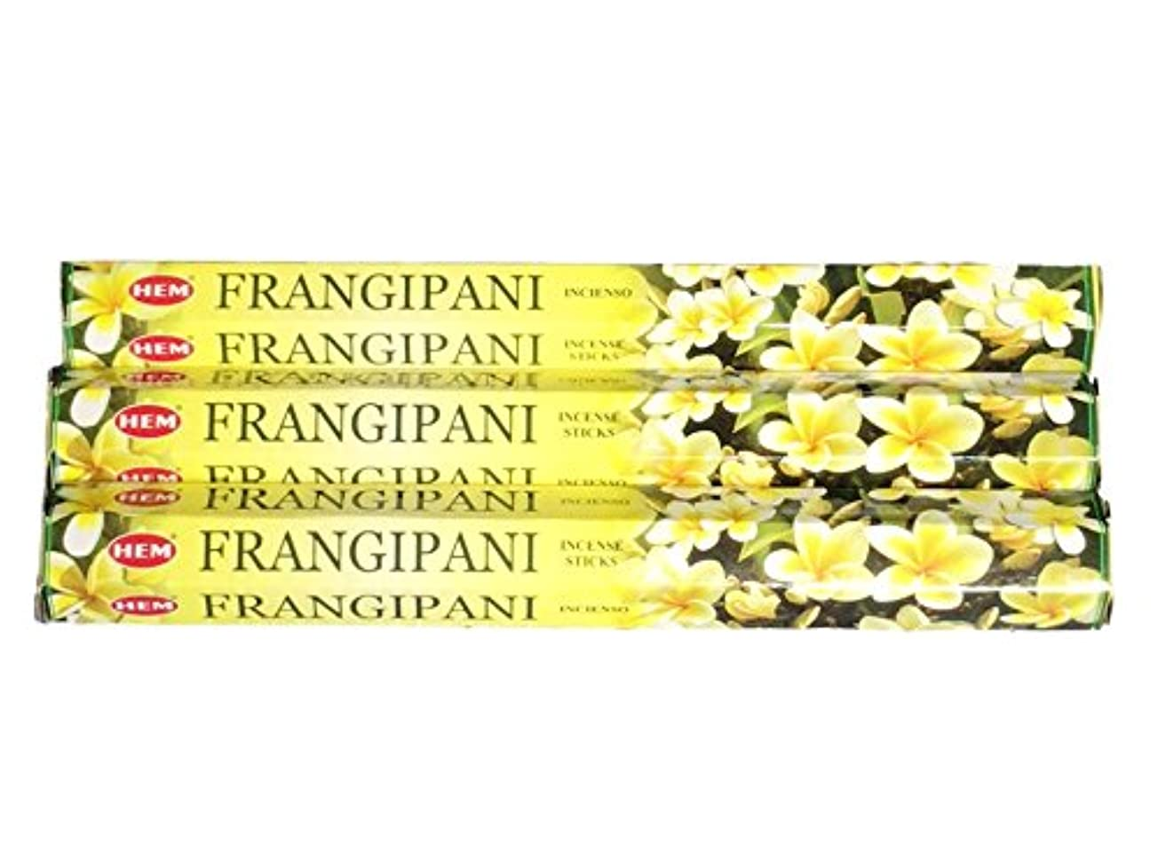 アノイ精神的に貴重なHEM ヘム フランギパニ FRANGIPANI ステック お香 3箱