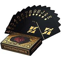 2個防水ポーカーカードブラックPVCトランプカードセットプロフェッショナルPoker Bronzing Poker Deck Top品質プラスチックポーカーfor your poker Pleasure