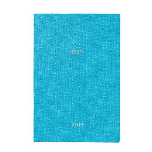 マークス EDiT 手帳 2018 1月始まり B6変型 1日1ページ カラーリフィル ブルー 18WDR-ETA-RFL-BL