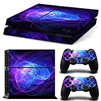 Sony PS4 Playstation 4 Skin Design Foils Faceplate Set - Spiral Design