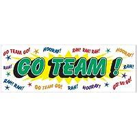Beistle Go Team Sign Banner、5フィート× 21-inch