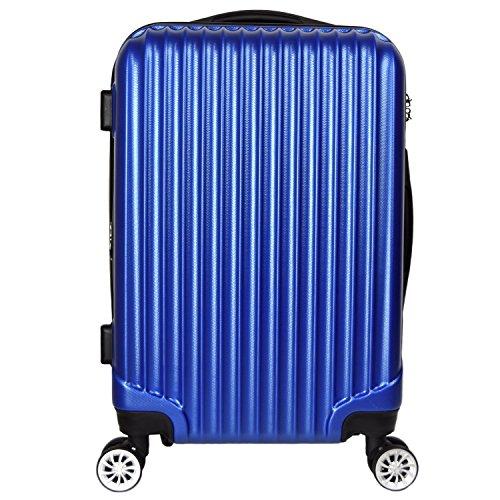 【神戸リベラル】LIBERAL 軽量スーツケース キャリーバッグ 容量アップ 8輪キャスター TSAロック付き (Sサイズ(1-3泊用 40/50L), ブルー)
