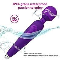 SLH 電動ソフト肌にやさしいシリコーンコンフォートショック振動リリース減圧制御玩具細かい安全性女性マッサージ振動オナニースティック (Color : Purple)