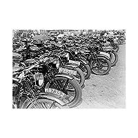 Photo Vintage Transport Old Motorbikes Motorcycles Wall Art Print 写真ビンテージ輸送モーターオートバイ壁