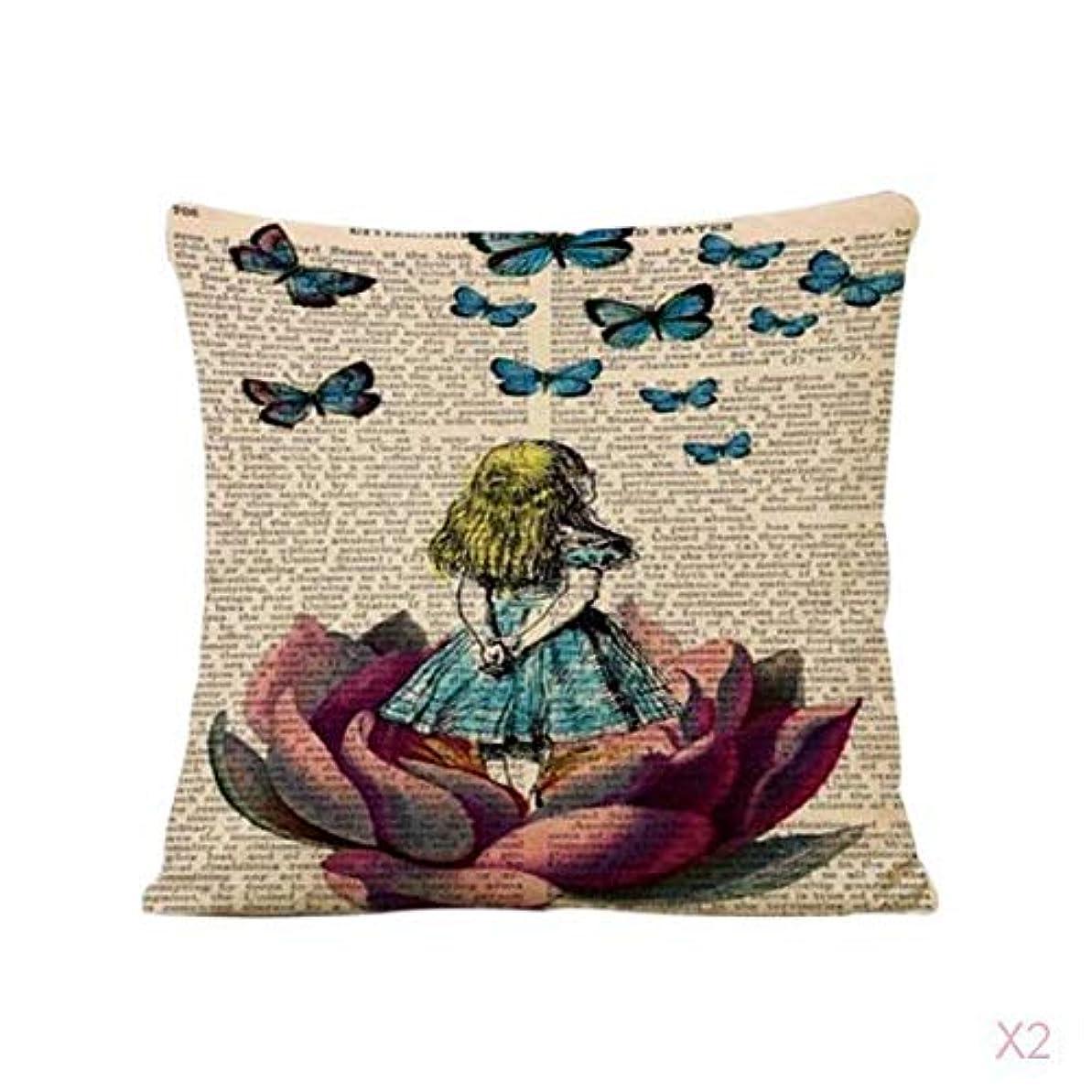励起提唱するストロークヴィンテージ家の装飾蓮の女の子リネンピローケース腰投げクッションカバー