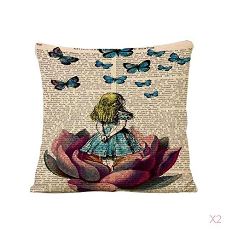 前売集計ハウジングヴィンテージ家の装飾蓮の女の子リネンピローケース腰投げクッションカバー