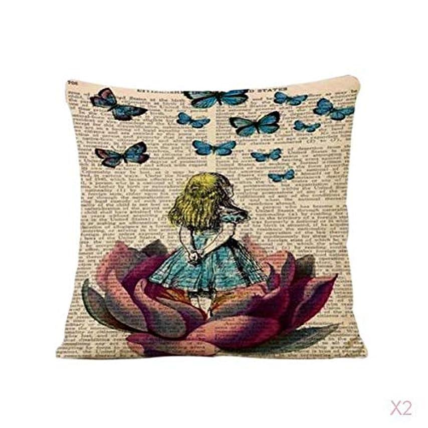彼女自身遊具パンヴィンテージ家の装飾蓮の女の子リネンピローケース腰投げクッションカバー