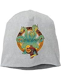 【Dera Princess】 男女兼用 ニット帽 Audentes Fortuna Iuvatロゴ コットン ニットキャップ 帽子 オールシーズン 被れる