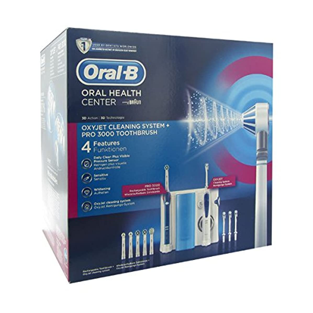 どのくらいの頻度で最小九Oral B Dental Center Oxyjet Irrigator + Electric Brush Pro 3000 [並行輸入品]