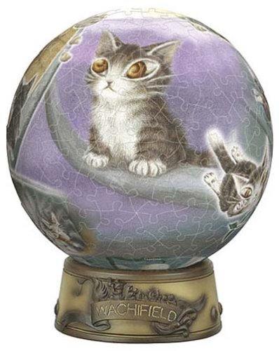 3D球体パズル わちふぃーるど 240ピース ダヤンと銀の道 (直径約15.2cm)