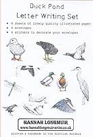 レターセット 水鳥のいる池 便箋8枚 ステッカー4枚 封筒4枚 イギリス