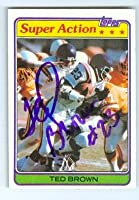 Autograph 178843 Minnesota Vikings 1981 Topps No. 59 Ted Brown Autographed Football Card