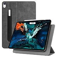 Fintie スリムケース iPad Pro 12.9 2018用 [磁気アタッチメント] [Apple Pencil第2世代充電モードをサポート] - 軽量スマートスタンドカバー 自動スリープ/ウェイク機能付き iPad Pro 12.9 第3世代用 EPAI072US