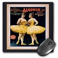 3drose LLC 8x 8x 0.25インチマウスパッド、ヴィンテージTheatreポスターのバレエ(MP 62670_ 1)