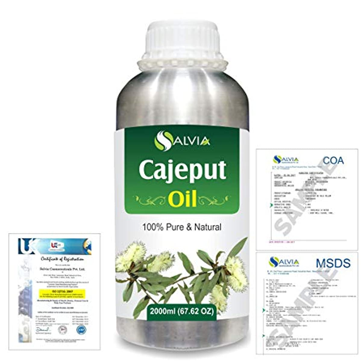 クリークベリ東Cajeput (Melaleuca leucadendron) 100% Natural Pure Essential Oil 2000ml/67 fl.oz.