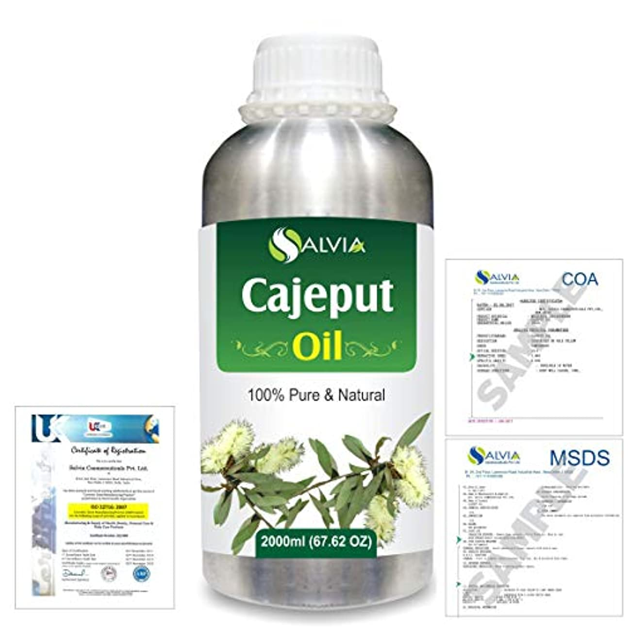 ホラー頂点ゴミCajeput (Melaleuca leucadendron) 100% Natural Pure Essential Oil 2000ml/67 fl.oz.