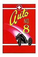 """"""" Auto No 8"""" (ブラックフレーム入りポスタープリント20x 30)"""
