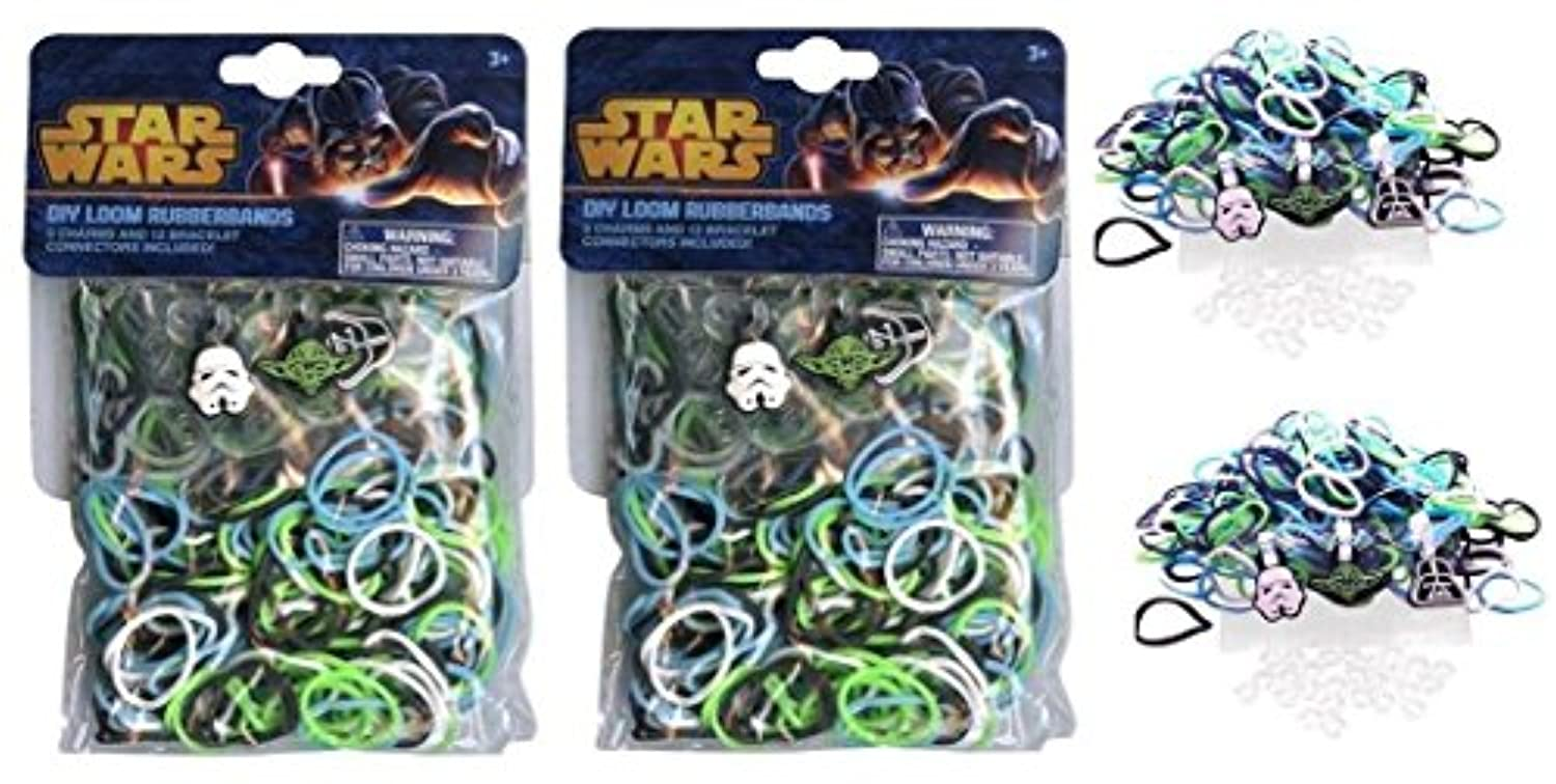 Star Wars 300 Loom Bands with 3 Charms and 12 Connectors X 2 Packs
