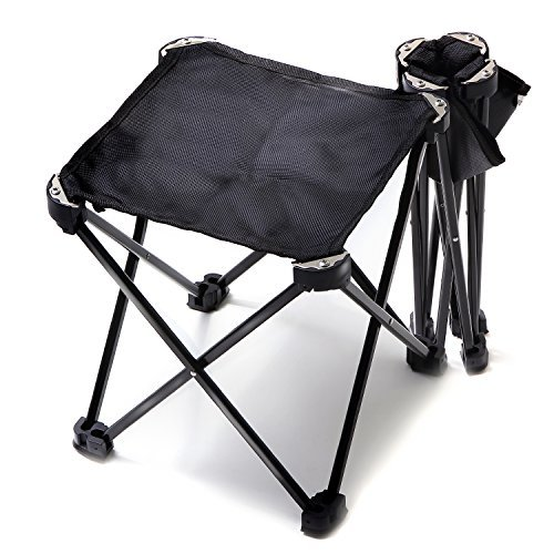 CASIDA 折りたたみ椅子 アウトドア 折りたたみ チェア ウルトラライト 軽量 コンパクト ジュラルミン 釣り イベント待ち(1. ブラック1個)