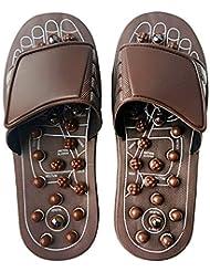 Euphoric Feet 男性と女性のためのマッサージスリッパ足リフレクソロジー指圧サンダルの靴の救済痛み (M)