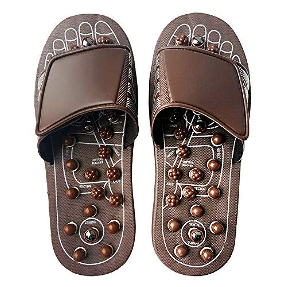 盟主帆慣習Euphoric Feet 男性と女性のためのマッサージスリッパ足リフレクソロジー指圧サンダルの靴の救済痛み (M)