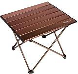 Trekologyポータブルキャンプサイドテーブル(アルミ製天板付):ピクニック用、キャンプ用、ビーチ用、ボート用、アウトドア用クッキングテーブル、拭き取り簡単ポータブルテーブル